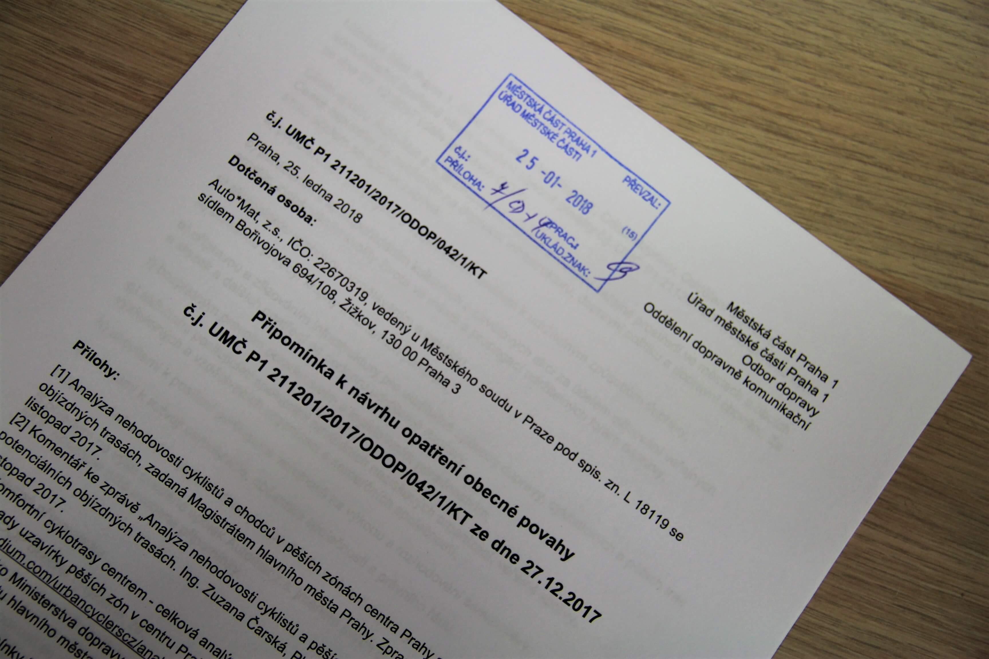 4000 lidí podpisů proti omezování kol v centru Prahy nestačilo. Auto*Mat podává připomínku