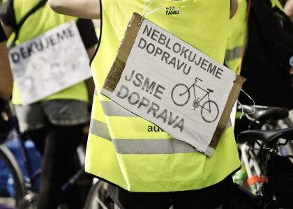 Stovky cyklistů projely Prahou při Velké jarní cyklojízdě