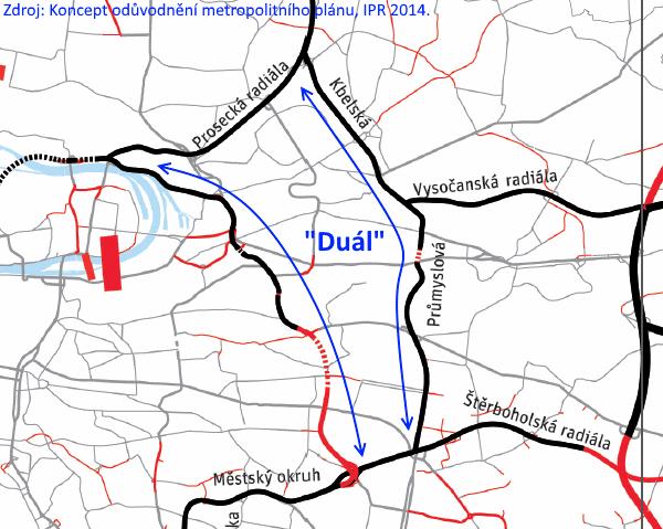 Městský okruh pro všechny není 'Duál' (aneb varianty dostavby MO)