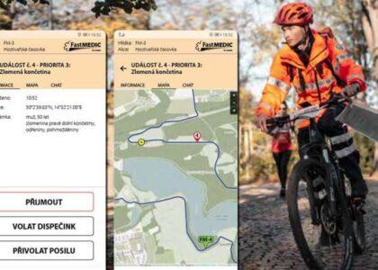 Na Světovou cyklojízdu budou opět dohlížet první čeští záchranáři na kolech