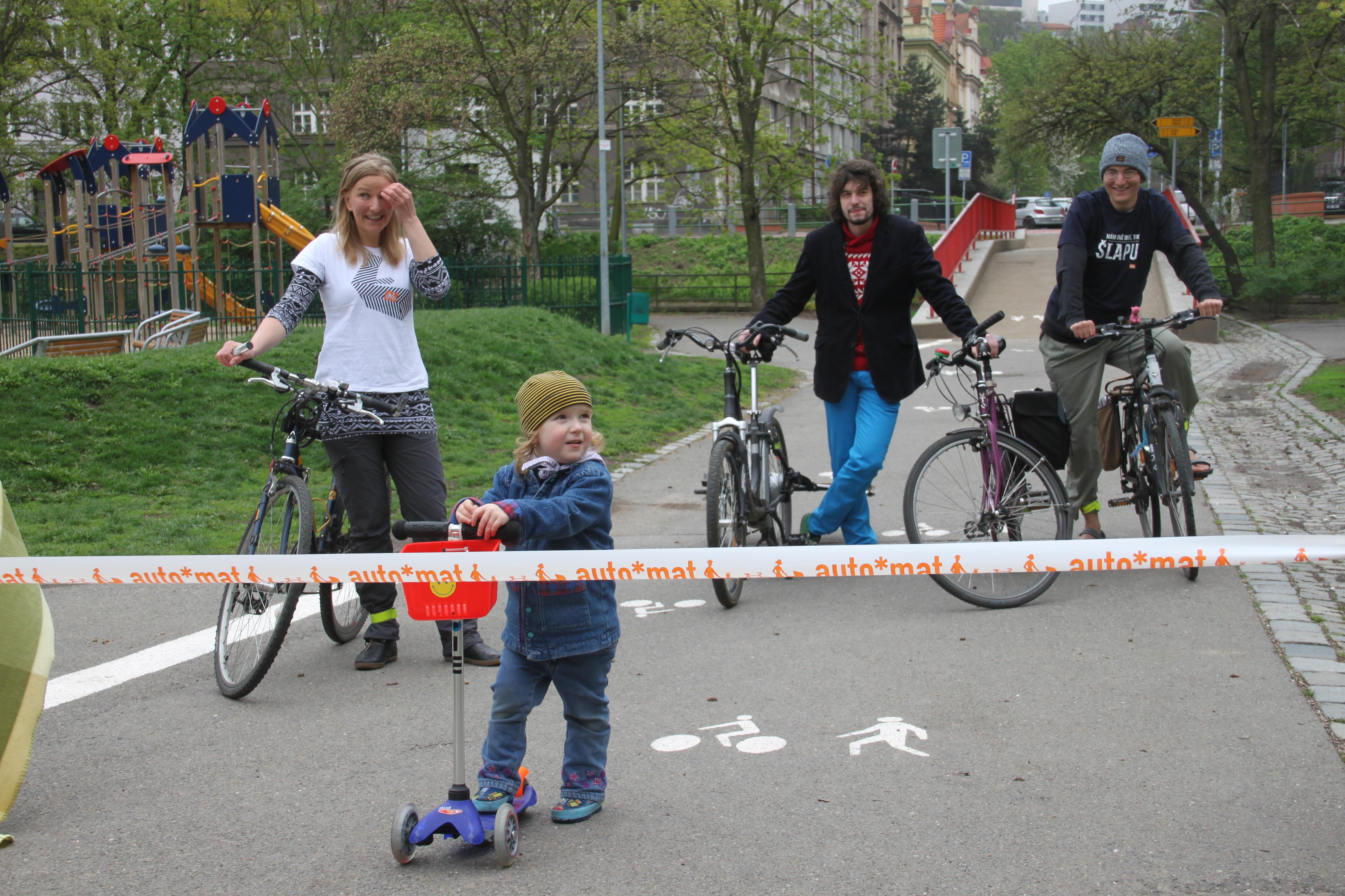 Přes Folimanku vede nová cyklotrasa. Navrhla ji soutěžící Do práce na kole